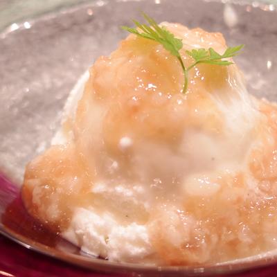 163華糀とリンゴのソース バニラアイス添えplan_item