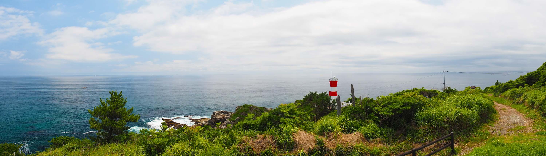 灯台付近のパノラマ