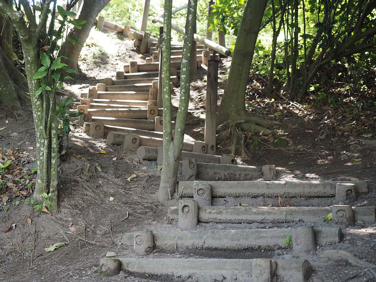 里浜からタブノキまでの上り階段