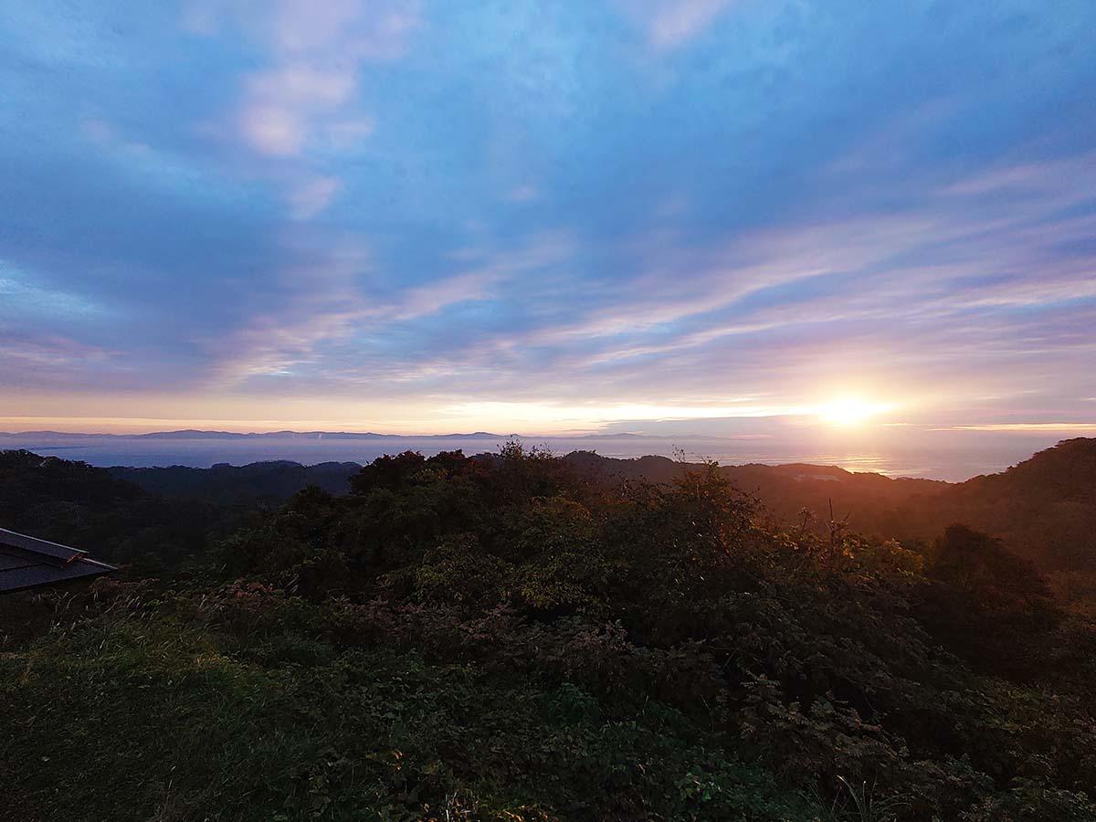太田か森からの日の出
